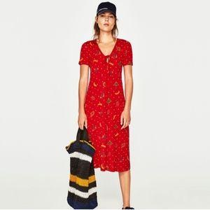 Zara Midi Fruit Dress